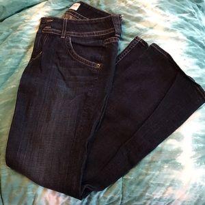 Hudson dark wash flare jeans